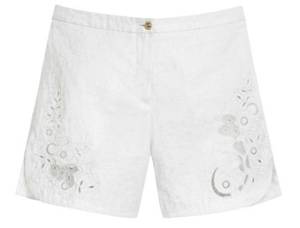 Mulberry Mulberry Embroidered Cotton Jacquard Shorts