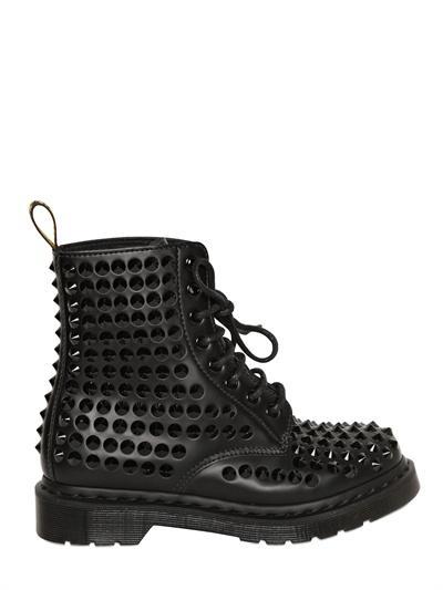 Dr. Martens  30MM Spike Studded Calfskin Boots