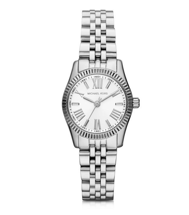 Michael Kors Petite Lexington Gold-Tone Stainless Steel Women's Bracelet Watch
