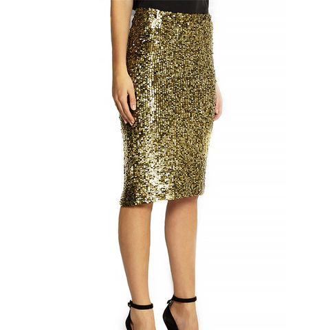 Bryce Sequined Pencil Skirt