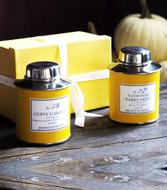 Bellocq Yellow Traveller Tea Caddy Set