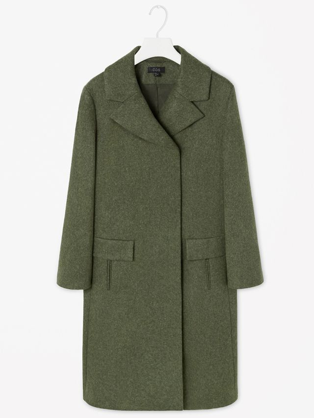 COS Wide Collar Wool Coat