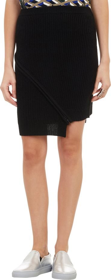 Opening Ceremony Zippered Sweater Skirt