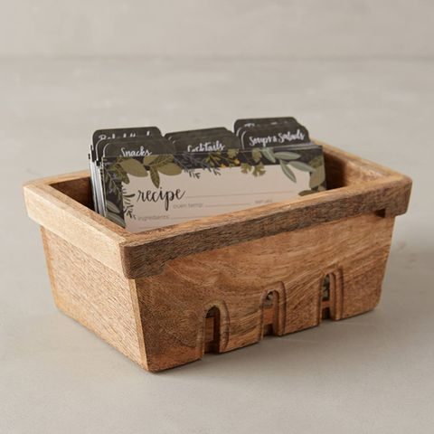 Recipe Box and Cards Collection