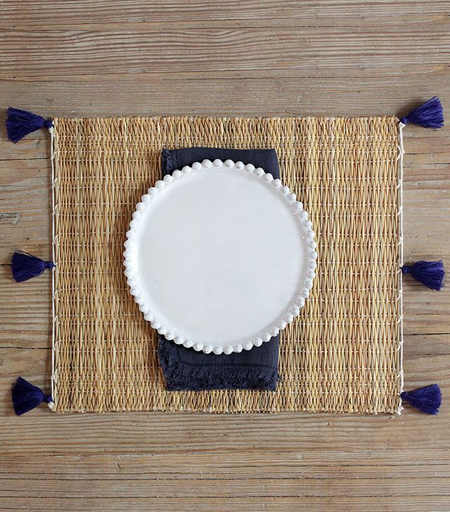 Nickey Kehoe Moroccan Woven Pom Pom Placemats