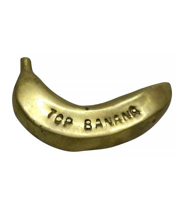 Chairish Vintage Top Banana Brass Paperweight