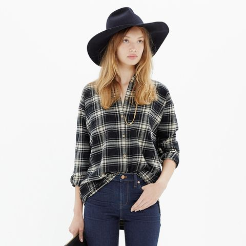 Flannel Trapeze Shirt