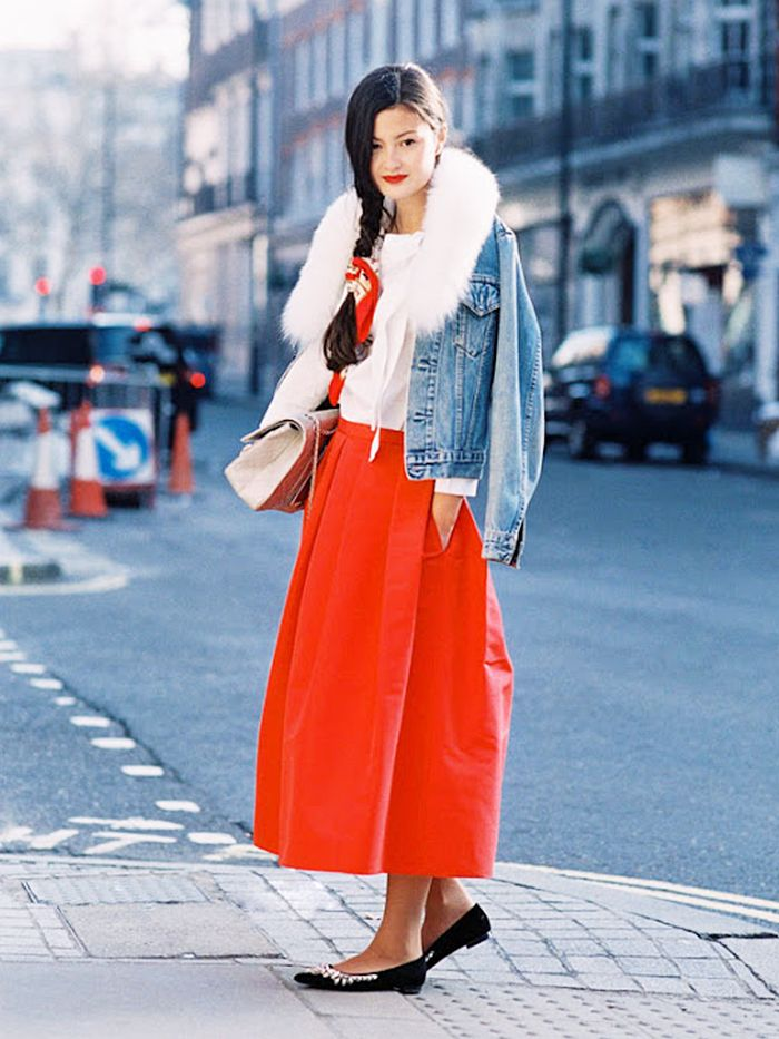 7 New Ways To Wear Your Midi Skirt This Winter Who What Wear