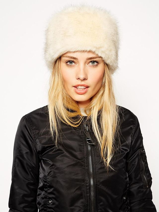ASOS Faux Fur Tipped Cossack Hat