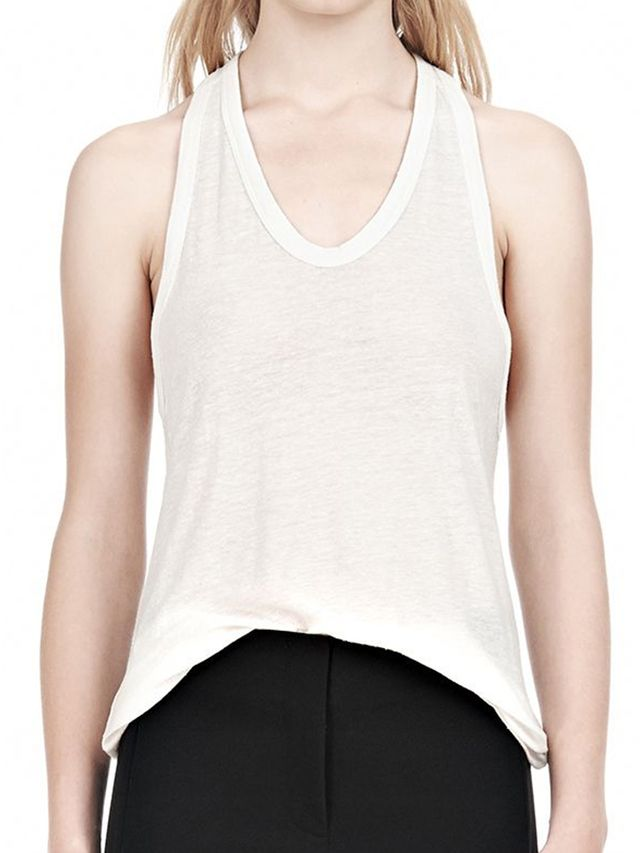 Alexander Wang Slub Classic Tank with Pocket