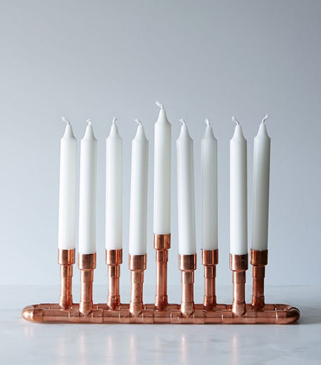 Industrial-Style Copper Candle Holder