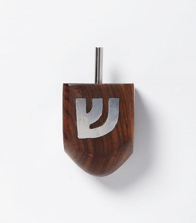 Wooden Mid-century Dreidel