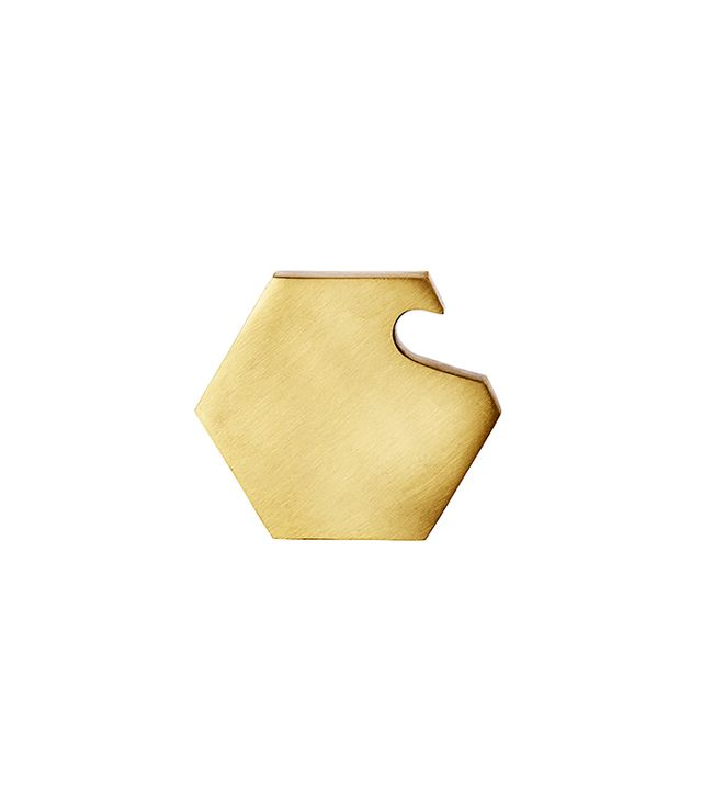 TRNK Brass Hexagon Bottle Opener