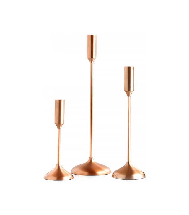 World Market Copper Metallic Taper Candleholders