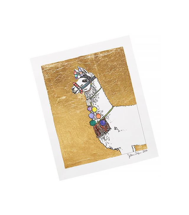 Anthropologie Gilded Llama Print