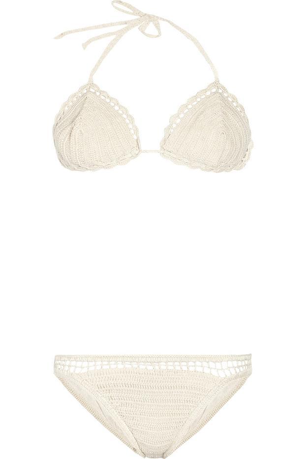 Anna Kosturova Crochet Triangle Bikini