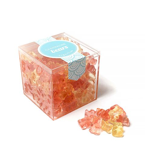 Champagne Bears Large Acrylic Cube