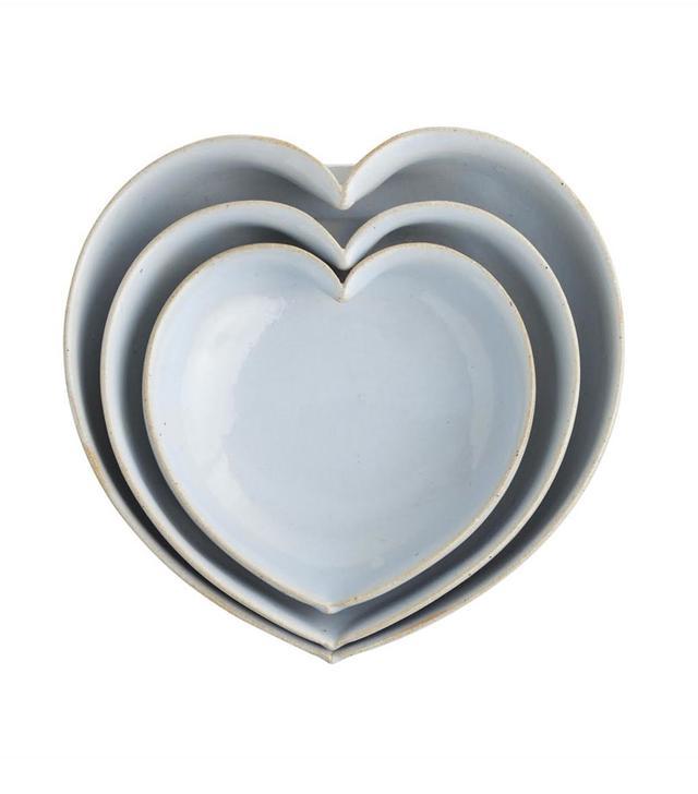 JD Wolfe JD Wolfe Heart Bowls