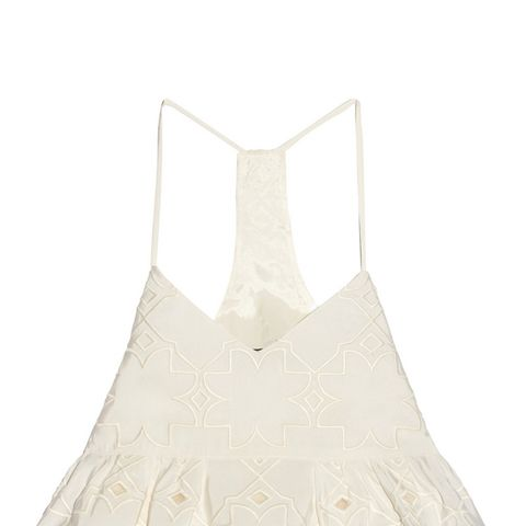 Brodee Embroidered Silk-Faille Top