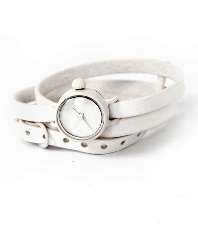 Assembly New York Wrap Watch White Leather