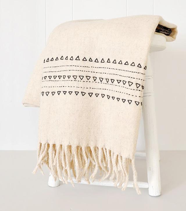 Koromiko Black Druzi Wool Blanket