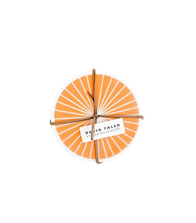 Xenia Taler Copper Ray Ceramic Coaster Set