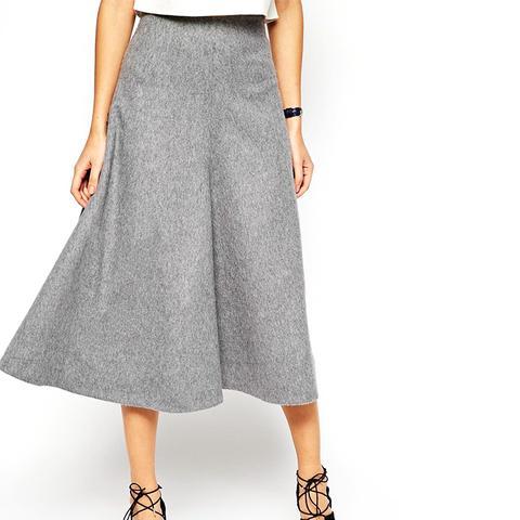 Premium Full A-Line Midi Skirt