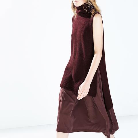 Cupro Midi Skirt