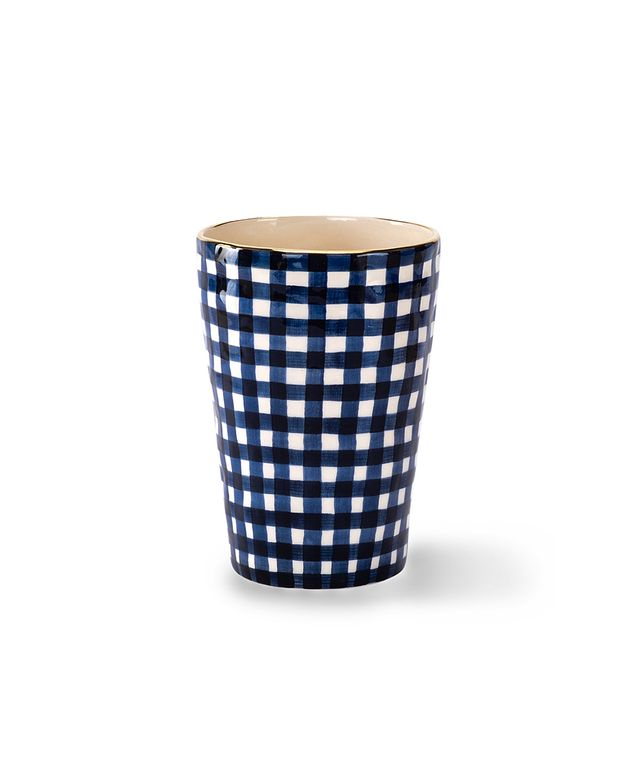 En Soie Small Gingham Vase