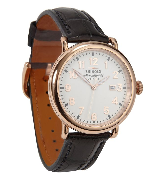 Shinola/Detroit The Runwell 41 Mm with Alligator Strap
