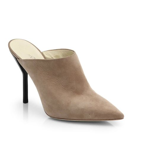 Martini Suede Point-Toe Mules