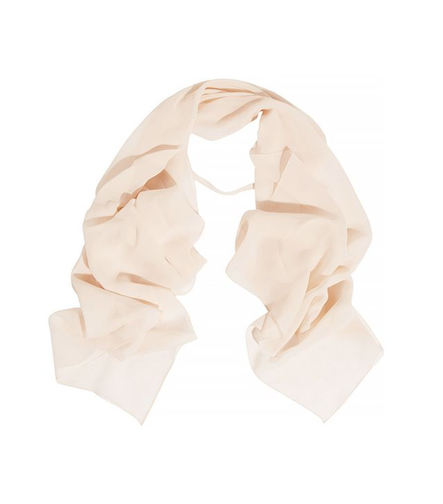 Chloé Smoking Silk-Chiffon Scarf