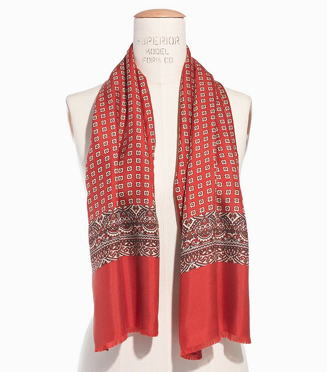 Madewell Silk Scarf in Ascot Grid