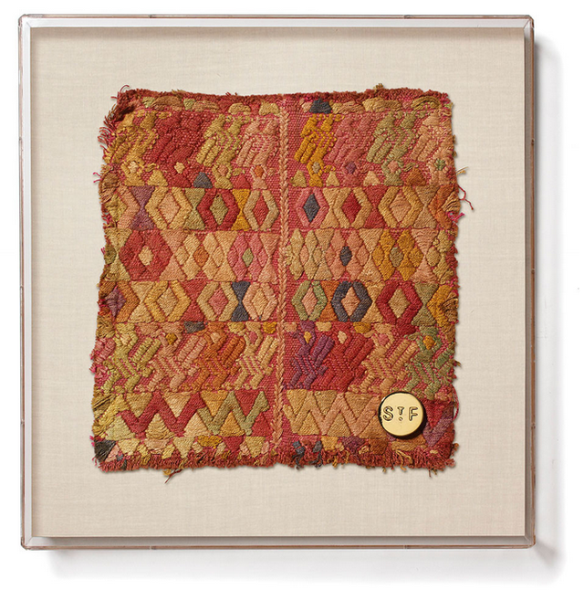 St. Frank Framed Huipil VIII Textile