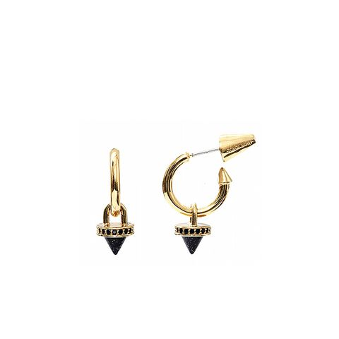 Cone Charm Hoop Earrings