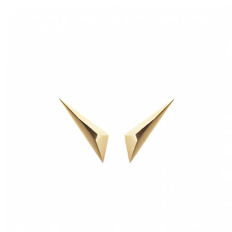 Yellow Gold Spike Earrings