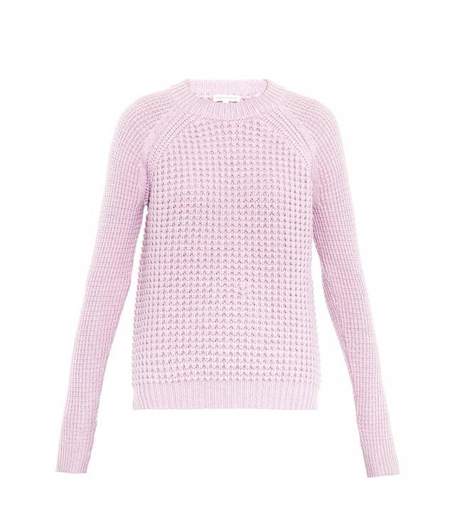 Rebecca Taylor Multi-Knit Wool-Blend Sweater