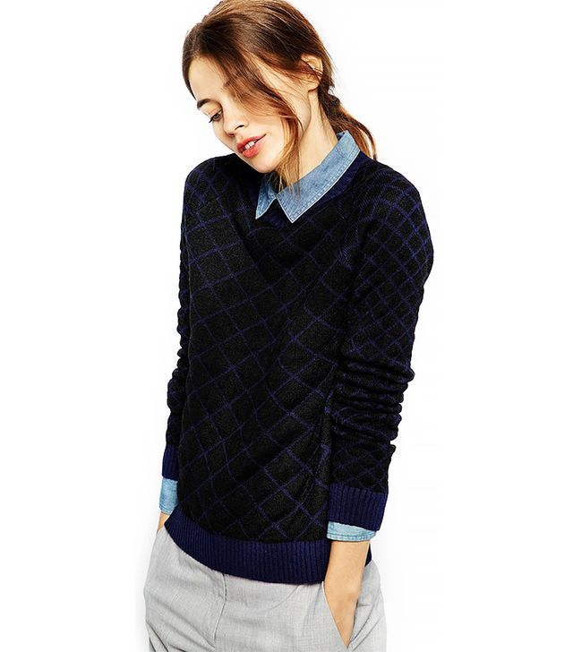 Shae Quilted Mohair Blend Jumper