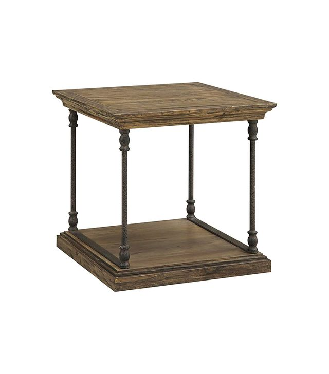 Lamps Plus Canady Wood and Iron End Table