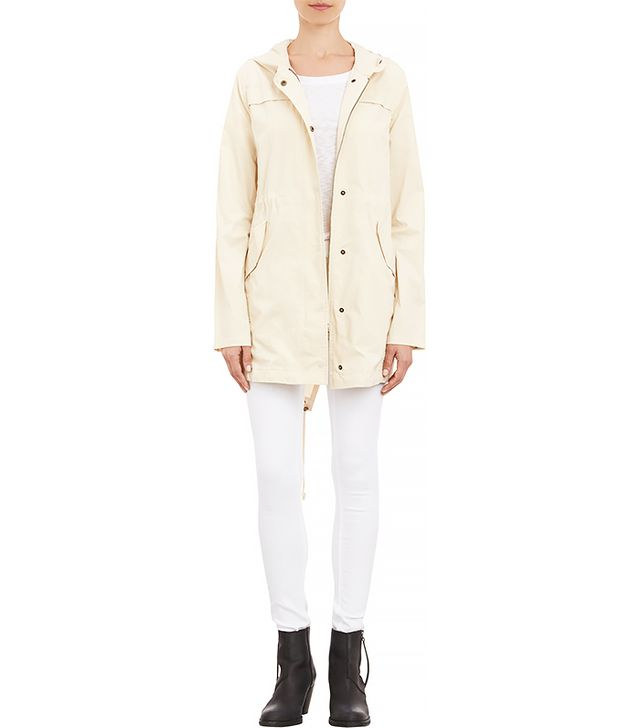 Barneys New York Twill Hooded Anorak
