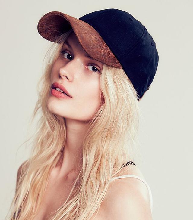 Bailey of Hollywood Dorsan Leather Brim Baseball Hat