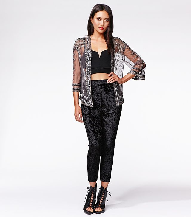 Kendall & Kylie for PacSun Velvet Cropped Jogger
