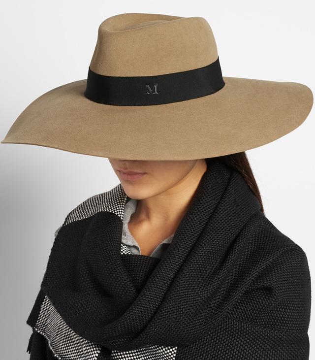 Maison Michel Fara Wide-Brim Rabbit-Felt Hat