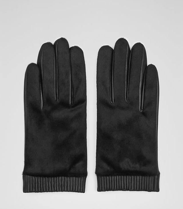 Reiss Rogue Textured Leather Gloves