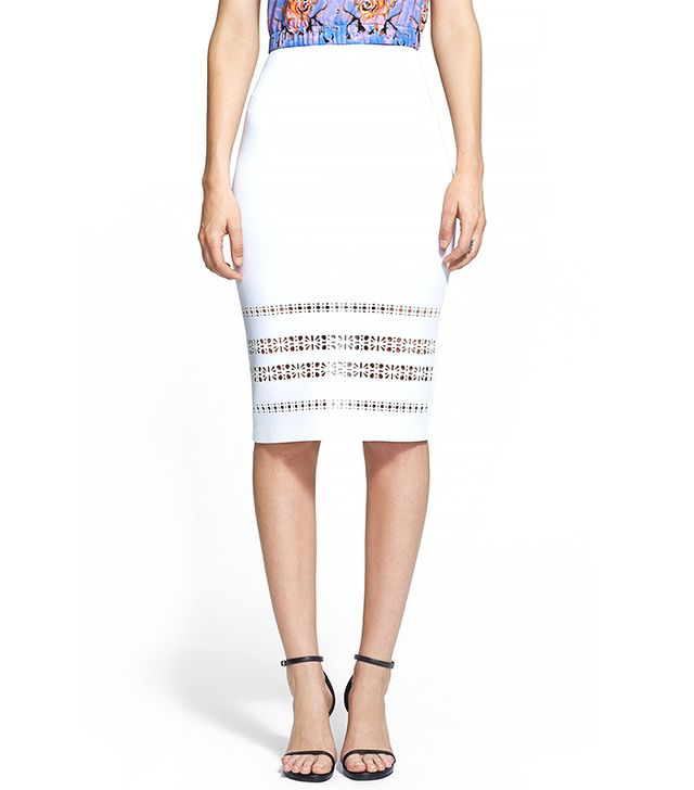 Clover Canyon Laser Cut Neoprene Pencil Skirt