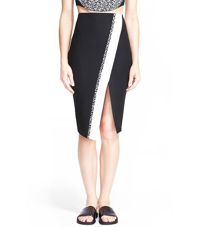 Elizabeth and James 'Bradshaw' Asymmetrical Wrap Pencil Skirt