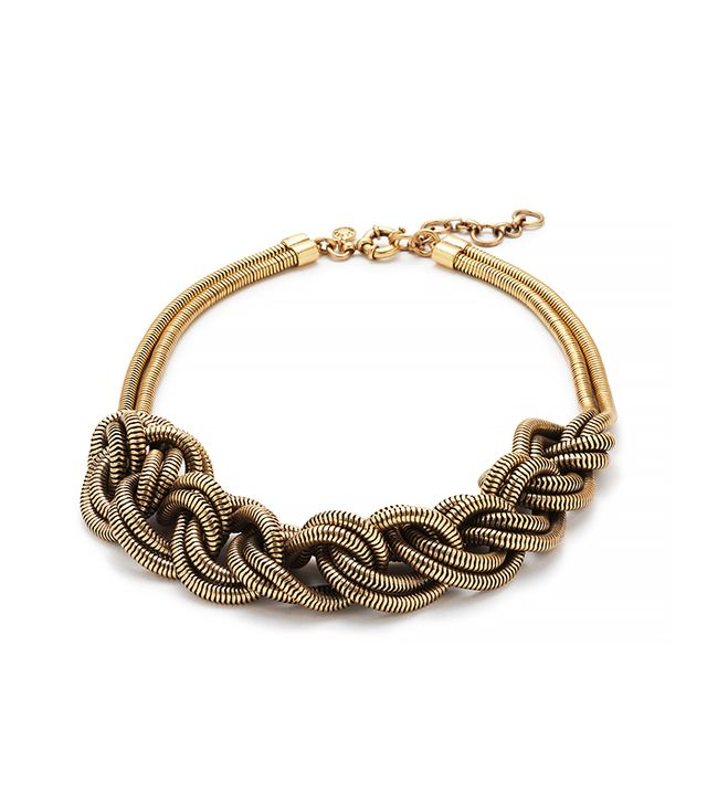 J.Crew Braided Rope Necklace