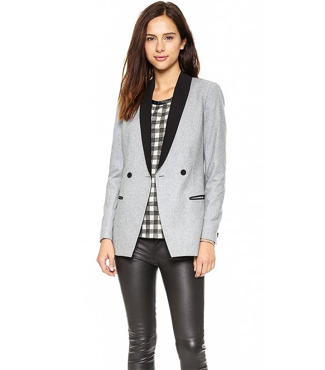 Maison Scotch Wool Blend Long Tuxedo Jacket