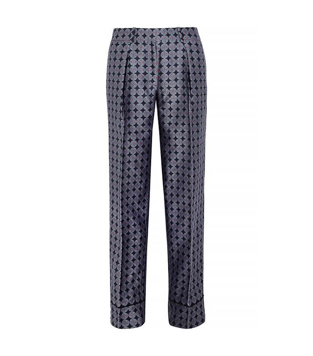 J. Crew Collection Silk-Foulard Wide-Leg Pant