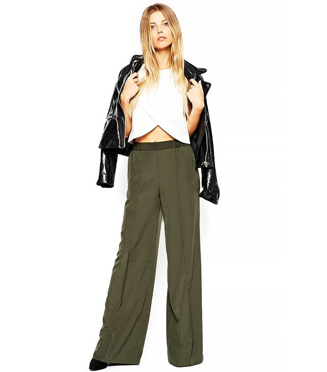 ASOS Wide Leg Trouser with Pintuck